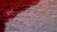 The blood on the bandages Stock Footage