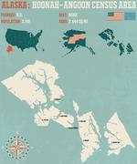 Hoonah-Angoon Census Area Alaska USA Stock Illustration