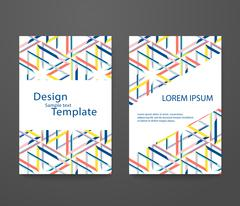 Set of abstract elegant pattern for booklet layout Stock Illustration