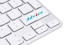 Hot keys for advice and support Stock Photos
