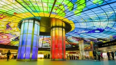 Kaohsiung, Taiwan - January 05, 2016: The Dome of Light at Formosa Boulevard Stock Footage