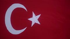 Turkish Flag Stock Footage