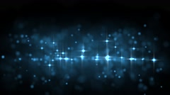 Blue glowing star particle in random direction  3D render abstract background Stock Footage