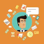 Creative Office Background Stock Illustration