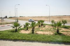 Tunisian crossroad - stock photo