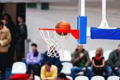Abstract sport background with basketball hoop. Sport equipment for team game Kuvituskuvat
