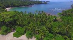 Paradise Beach In Costa Rica - stock footage
