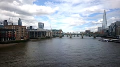 South Bank Of River Thames, London Stock Footage