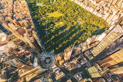 Aerial view of Columbus Circle and Central Park in NY City Kuvituskuvat