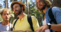 Three hipster friends walking Stock Footage