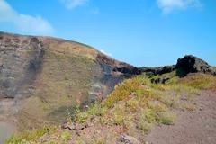Vesuvius volcano crater - stock photo