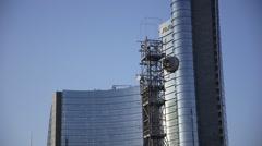 Skyline  milano Stock Footage