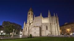 Iglesia de Santa María de la Antigua in Valladolid Stock Footage