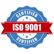 ISO 9001 certified stamp - quality standard seal Stock Illustration