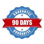 90 days guarantee stamp - warranty sign Stock Illustration