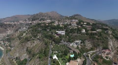 Aerial View of Taormina, Sicily, Italy Stock Footage