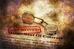 Assignment of contract grunge concept - stock illustration