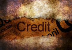 Credit text on paper hole  concept Stock Illustration