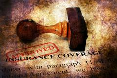 Stamp approved  on Insurance coverage concept - stock illustration