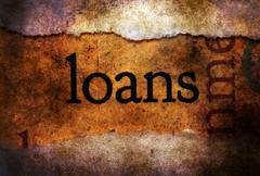 Loanstext on torn paper  concept Stock Illustration