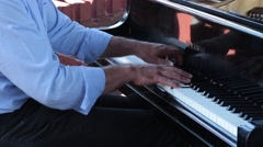 Musician who plays the piano Stock Footage