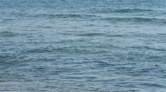 Wavy sea in slow motion by Sheyno, close up shot. Stock Footage