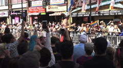 Performer on Stilts at Toronto's 36th Annual Pride Parade 2016 - stock footage