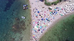 Top View of Isola Bella at Taormina, Sicily Stock Footage