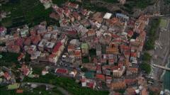Above Minori village Stock Footage