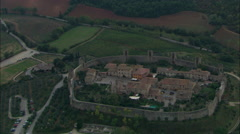 Monteriggioni walled town Stock Footage
