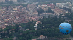 Over Vlla Medici & Piazza del Popolo Stock Footage
