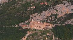 St Benedict's Monastery near Subiaco Stock Footage