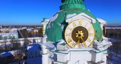 Monastery of the Transfiguration of the Saviour , historical centre of Yaroslavl Stock Footage