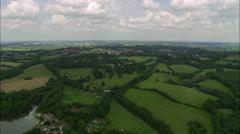 Battle Abbey And Battlefield Stock Footage