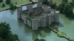 Bodiam Castle Stock Footage