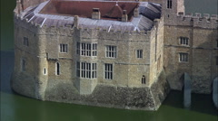 Leeds Castle C/U To Zoom Out Stock Footage