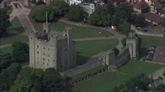 Rochester Castle With Zoom Out To Cathedral Stock Footage