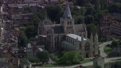 Rochester Cathedral And Track To Include Castle Stock Footage