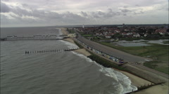 Southwold Pier And Beach Huts Stock Footage