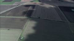 Cloud Shadows On The Fens C/U Stock Footage