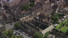Stamford - Old Style Courtyard Stock Footage
