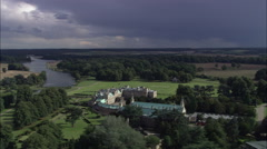 Welbeck Abbey And Surrounding Landscape Stock Footage