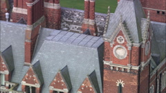 Kelham Hall C/U On Roof To Zoom Out Stock Footage