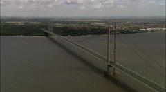 Humber Suspension Bridge Stock Footage