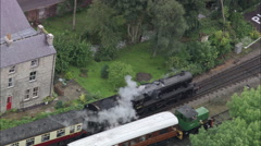 Steam Train At Pickering Stock Footage