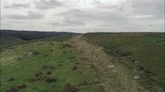 Wades Causeway Across N. Yorks Moor Stock Footage