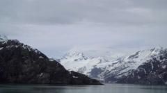Majestic Snowy Mountain Peek Revealed Stock Footage