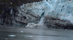 Glacier Collapses (Calves) and Falls in Water Stock Footage