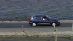Holy Island Causeway Lindisfarne Stock Footage
