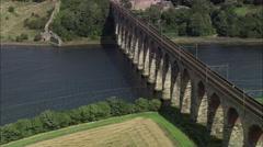 Berwick On Tweed Viaduct Stock Footage
